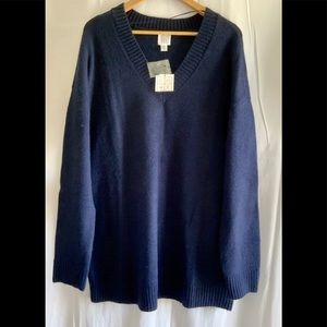 🌵NWT Core Women Sweater Blue V-neck size M